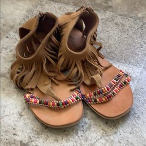 New rebels Bohemian beaded sandals, size 9